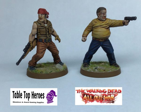 painted woodbury faction characters from my own collection