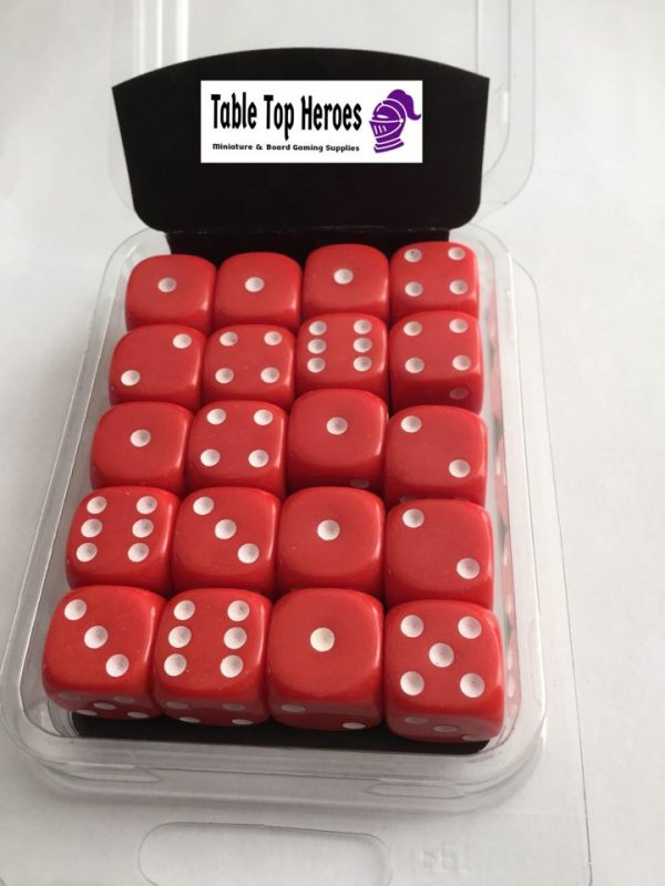 pack of six sided red dice d6