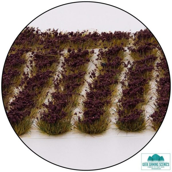 Self Adhesive Grass Tufts Heather Flowers