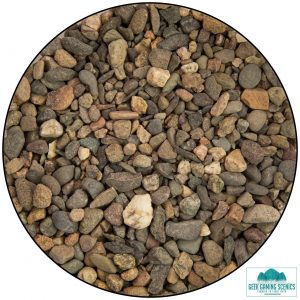 bag of small rock chippings to various colours to create fallen rocks and boulders on terrain