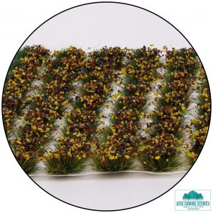 self adhesive grass tufts with mixed flowers