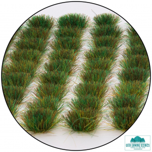self adhesive static grass tufts dark green spring colour