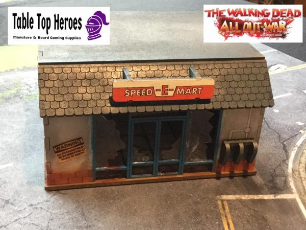made and painted version of the mdf mini mart building