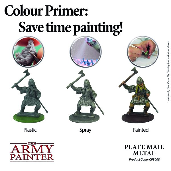 Plate mil primer in use on a figure