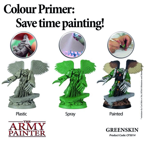 Picture shows what you can achieve with this primer colour