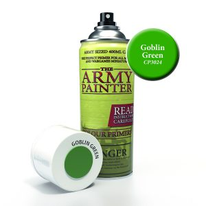 Can of goblin green colour primer pray