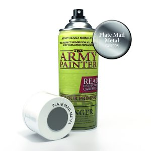 Plate metal spray primer can