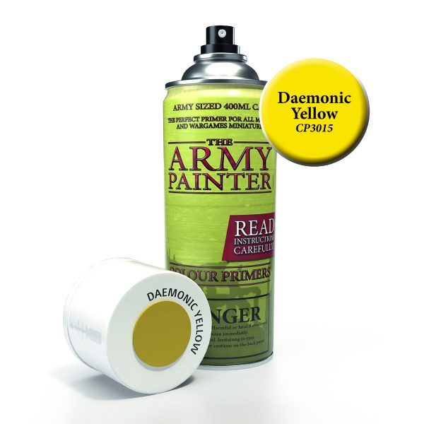 Can of daemonic yellow primer spray