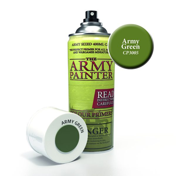 can of army painter green colour primer