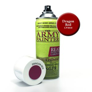 Can of dragon red primer spray