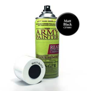 can of black army painter undercoat primer