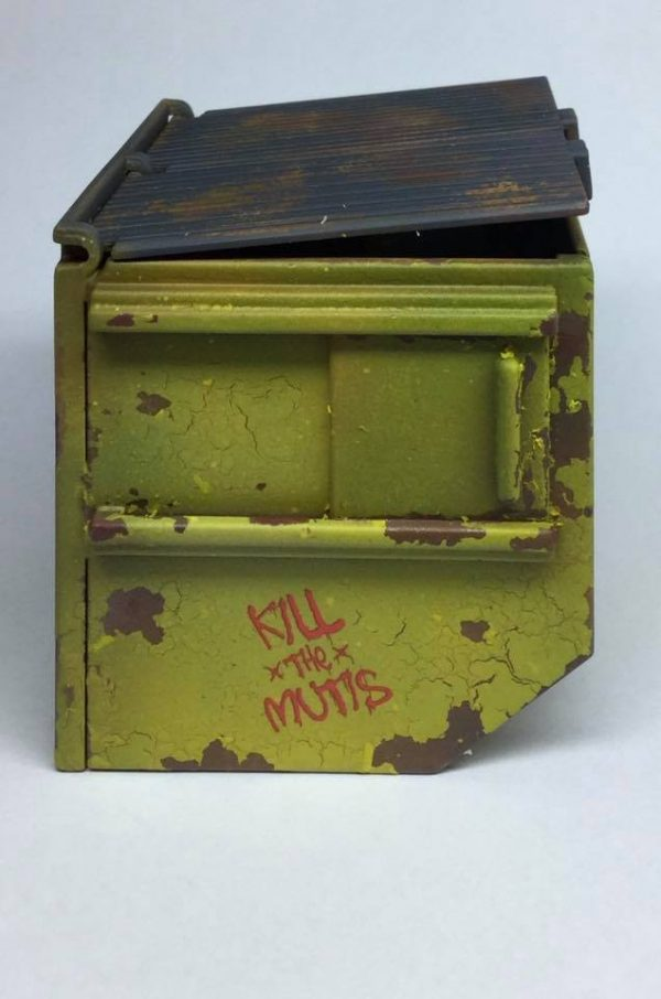 painted reaper dumpster