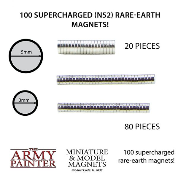sizes of magnets contained