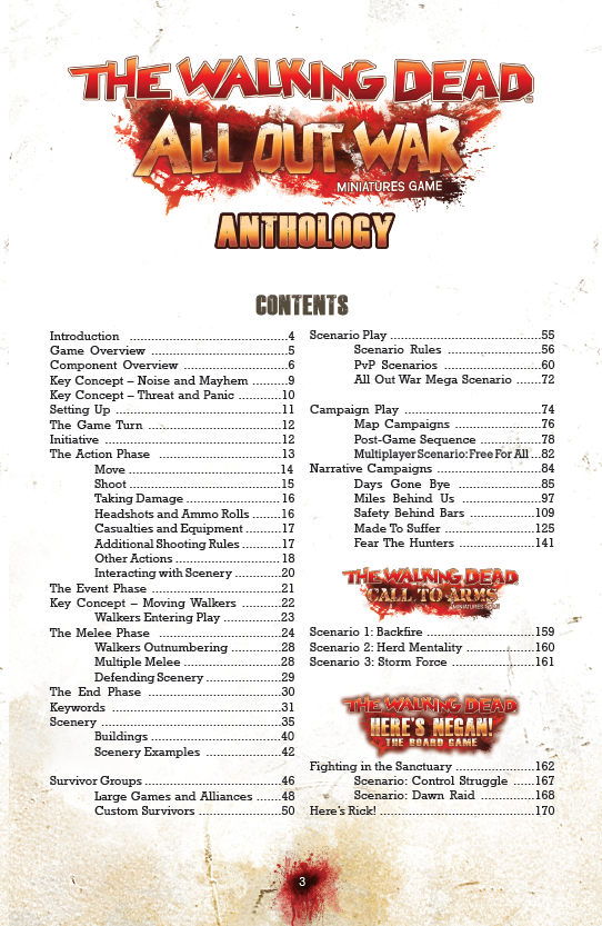 contents of anthology rule book