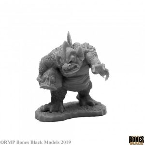 unpainted marsh troll carrying a fish