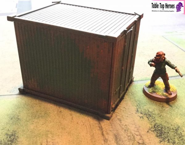 Painted reaper storage container