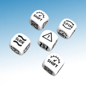set of five skid dice for gaslands game
