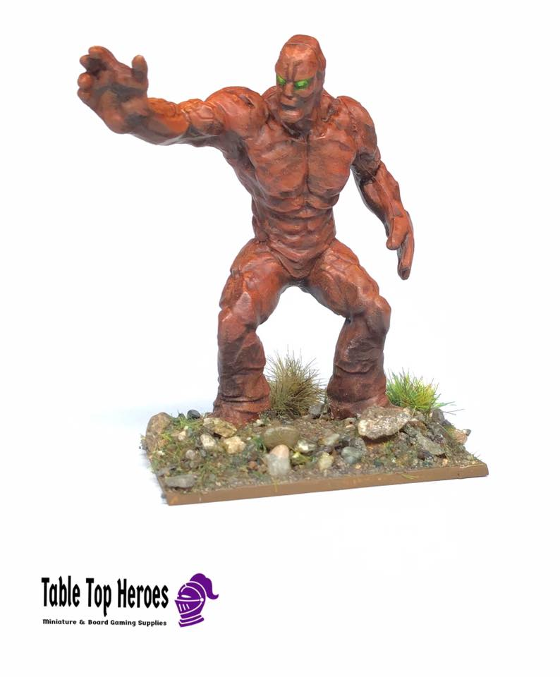 Clay golem miniature for dungeons and dragons