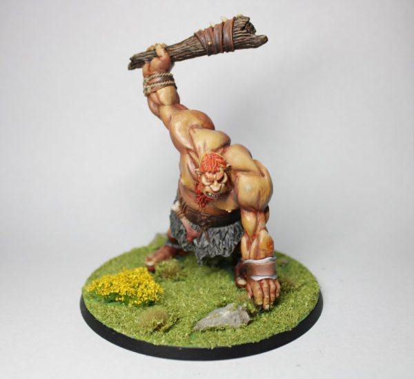 Painted hill giant warrior