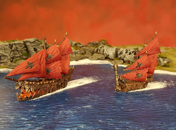 painted armada orc ships