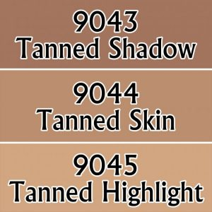 Three skin tone colours