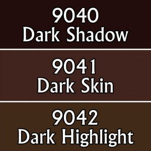 set of three paint tones suitable for dark flesh