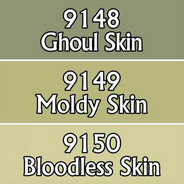 Three colour paints for undead skin