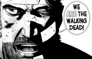 walking dead comic book art