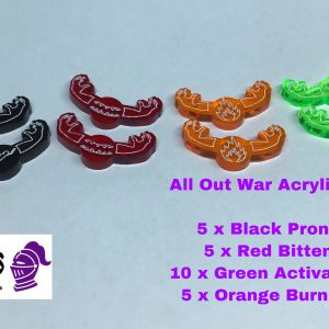 Acrylic token set different colour
