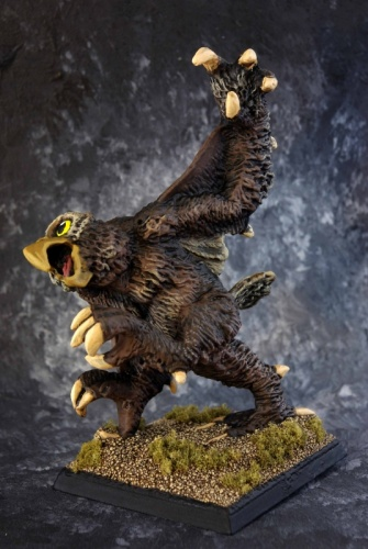 painted example of owl bear miniature