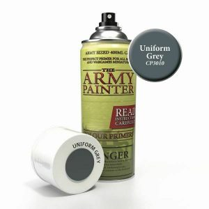 Grey primer paint can