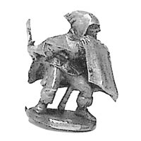 Ral Partha cloaked assassin miniature unpainted
