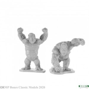 pair of giant apes