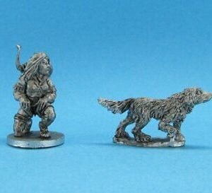 Ral Partha Huntress and Dog
