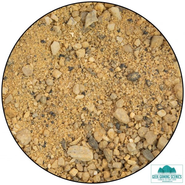 picture of desert sand and stone mixed base material