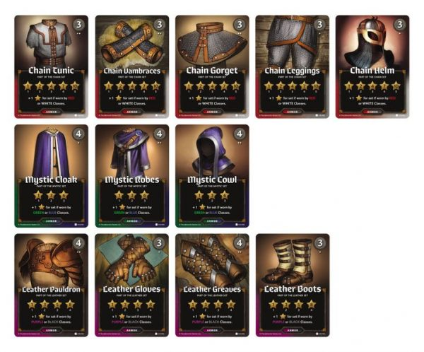 example of cards from roll player