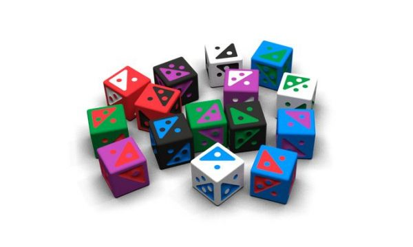 example of custom dice supplied