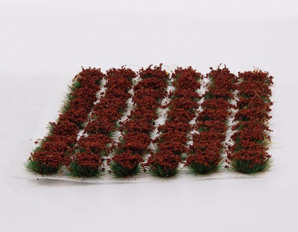 sheet of poppy red tufts