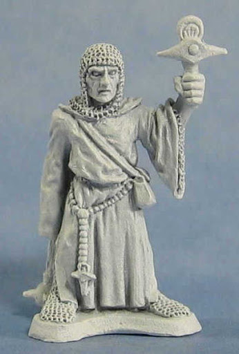 Close up of Ral Partha priest figure